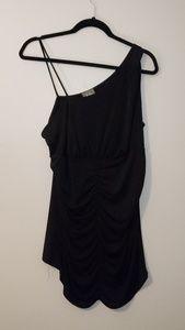 Little black one shoulder dress